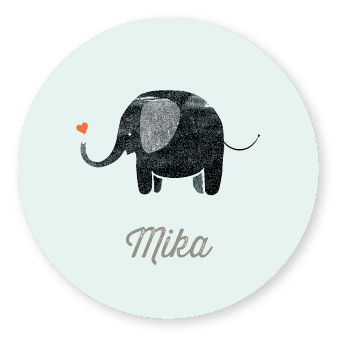 Sticker Elephant Blue