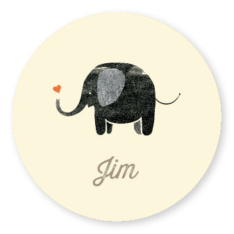 Sticker Elephant Yellow
