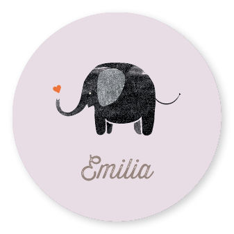 Sticker Elephant Lila