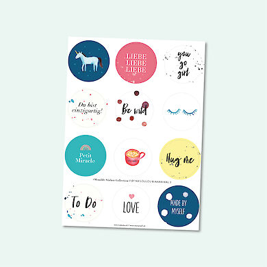 #Momlife Sticker Collection -