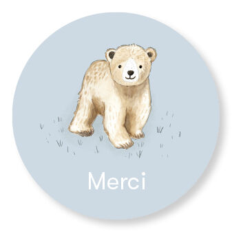 Sticker Baby Bear pastel blue