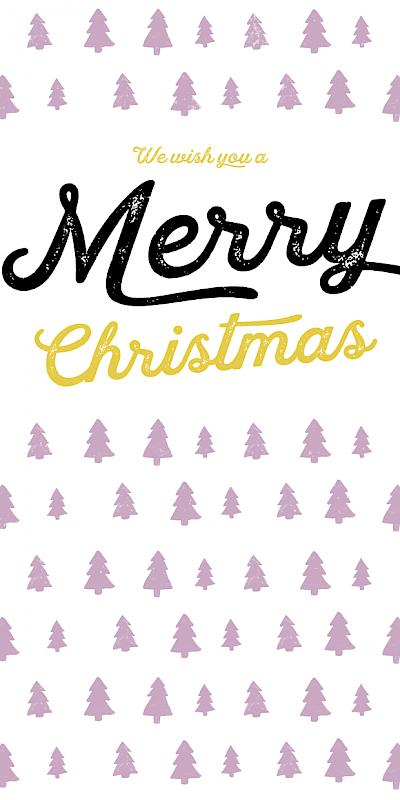Ma Carte De Noel.Carte De Noël Ma Loulou Mauve