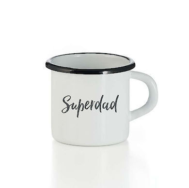 Emaille Tasse Superdad